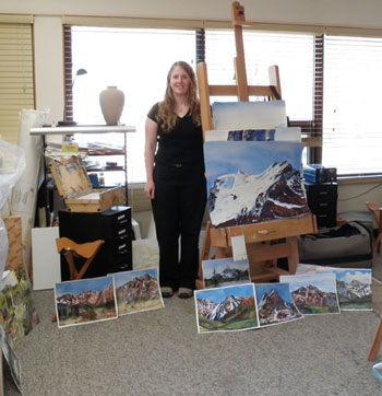 Artist in Residence Mountain Galleries Jasper