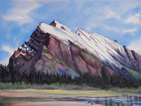 Mount Rundle Banff watercolour painting Mountain Galleries Kendra Smith artist